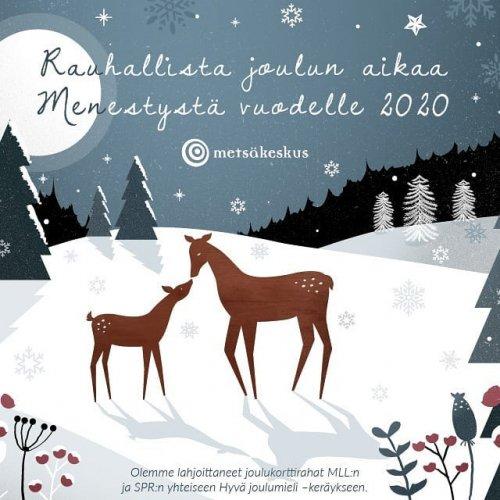 @metsakeskus: Metsäkeskuksen väki toivottaa hyvää joulua ja onnellista uutta vuotta!🎄 Vi på Skogscentralen önskar alla god jul och gott nytt år! 🎄